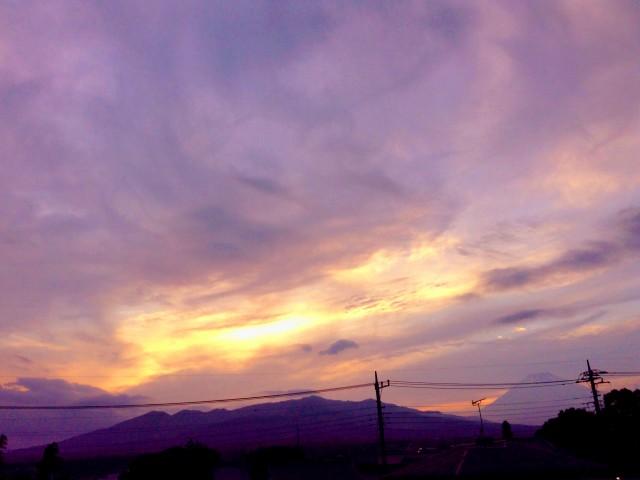 Sunset Mt.Fuji 7/12/2014